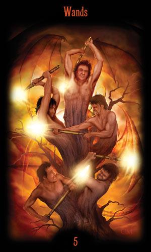 5 Жезлов Таро Божественного Наследия