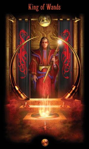 Король Жезлов Таро Божественного Наследия