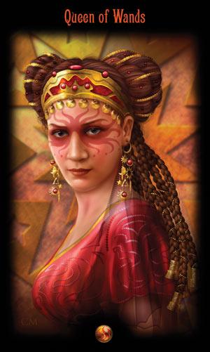 Королева Жезлов Таро Божественного Наследия