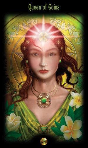Королева Монет Таро Божественного Наследия