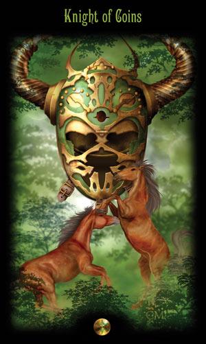 Рыцарь Монет Таро Божественного Наследия