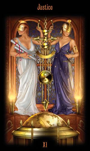 11 Правосудие Таро Божественного Наследия