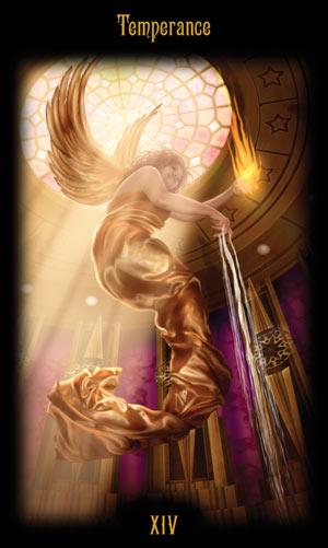 14 Умеренность Таро Божественного Наследия