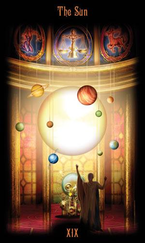 19 Солнце Таро Божественного Наследия