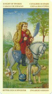 Таро Брейгеля Рыцарь Мечей