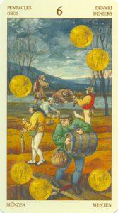 Таро Брейгеля 6 Монет (пентаклей)
