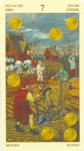 Таро Брейгеля 7 Монет (пентаклей)