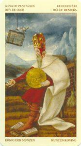 Таро Брейгеля Король Монет (пентаклей)