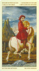 Таро Брейгеля Рыцарь Монет (пентаклей)