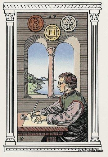 Алхимическое Таро 3 Монет