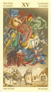 Таро Брейгеля Старший Аркан 15 Дьявол