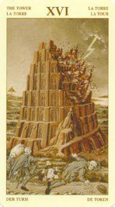 Таро Брейгеля Старший Аркан 16 Башня
