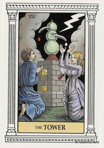 Алхимическое Таро старший аркан Башня