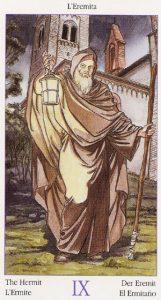 Таро Казановы изображение аркана Отшельник