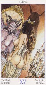 Таро Казановы изображение аркана Дьявол