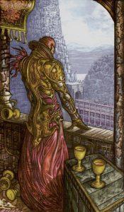 Таро Царство Фэнтези изображение 5 Кубков