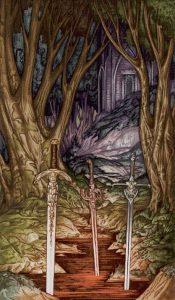 Таро Царство Фэнтези изображение 3 Мечей