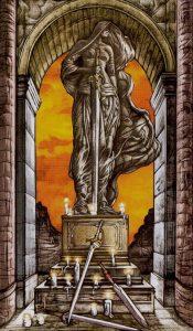 Таро Царство Фэнтези изображение 4 Мечей