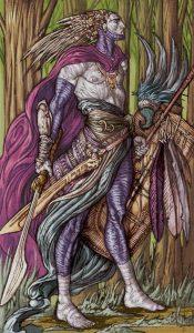 Таро Царство Фэнтези изображение Паж Мечей