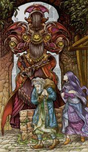 Таро Царство Фэнтези изображение 5 Пентаклей