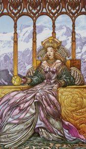 Таро Царство Фэнтези изображение Королева Пентаклей