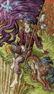 Таро Царство Фэнтези Изображение с карты Шут