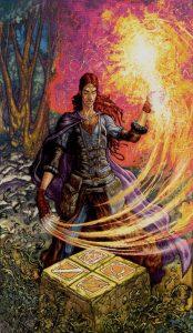 Таро Царство Фэнтези Изображение с карты Маг