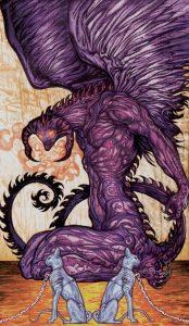 Таро Царство Фэнтеза Изображение с карты Дьявол
