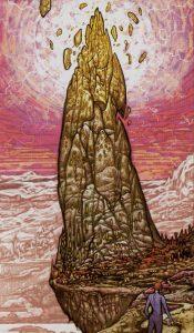 Таро Царство Фэнтеза Изображение с карты Башня