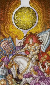 Таро Царство Фэнтеза Изображение с карты Солнце