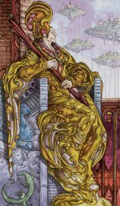 Таро Царство Фэнтези Изображение с карты Король Жезлов