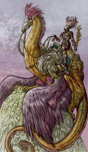 Таро Царство Фэнтези Изображение с карты Рыцарь Жезлов