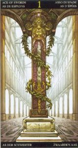 Таро Царство Фэнтези карта 1 Мечей