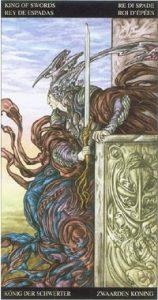 Таро Царство Фэнтези карта Король Мечей