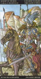 Таро Царство Фэнтези карта Рыцарь Мечей