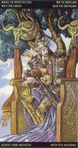 Таро Царство Фэнтези карта Король Пентаклей