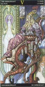 Таро Царство Фэнтези аркан 5 Жрец