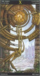 Таро Царство Фэнтези аркан 10 Колесо Фортуны