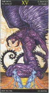 Таро Царство Фэнтези аркан 15 Дьявол