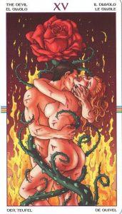 Таро Колесо Года Старший Аркан 15 Дьявол