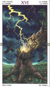 Таро Колесо Года Старший Аркан 16 Башня
