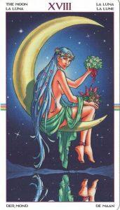 Таро Колесо Года Старший Аркан 18 Луна