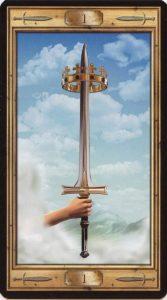 Таро Универсальный Ключ Изображение аркана Туз Мечей