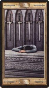 Таро Универсальный Ключ Изображение аркана 4 Мечей
