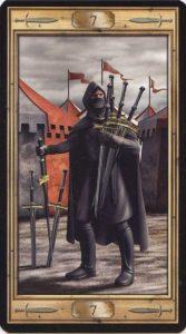Таро Универсальный Ключ Изображение аркана 7 Мечей