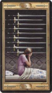 Таро Универсальный Ключ Изображение аркана 9 Мечей