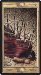 Таро Универсальный Ключ Изображение аркана 10 Мечей