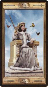 Таро Универсальный Ключ Изображение аркана Королева Мечей