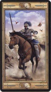 Таро Универсальный Ключ Изображение аркана Рыцарь Мечей