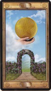 Таро Универсальный Ключ Изображение аркана Туз Пентаклей